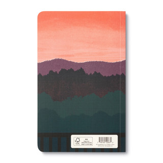 Backcover, wine-themed journal with 8 breakout pages, each featuring a uniquely designed, vibrant illustration and sweet quote, celebrating life's simple pleasures and the people we share them with