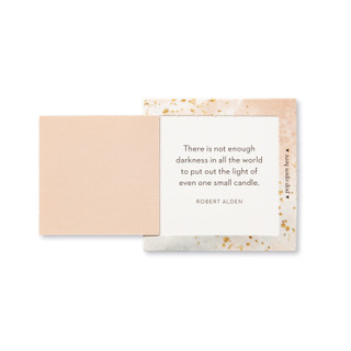 """Inside view of a pop-open card, """"Hope"""", gold, glittery, elegant design, 30 pop-open cards, each with a unique message inside, backside has space to write a note"""