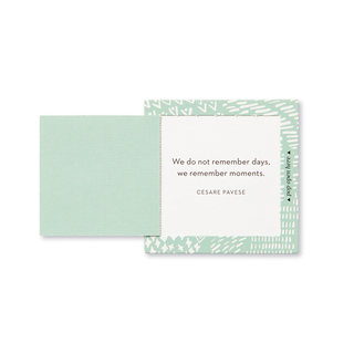 """Inside view of a pop-open card, """"Thank You"""",  light green and white, elegant design, 30 pop-open cards, each with a unique message inside, back of cards has space to write a note"""