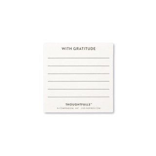 """Backside view of a pop-open card, """"Thank You"""",  light green and white, elegant design, 30 pop-open cards, each with a unique message inside, back of cards has space to write a note"""