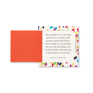 """Inside view of a pop-open card, """"Be Happy"""", confetti, colorful design, 30 pop-open cards, each with a unique message inside, backside has space to write a note"""