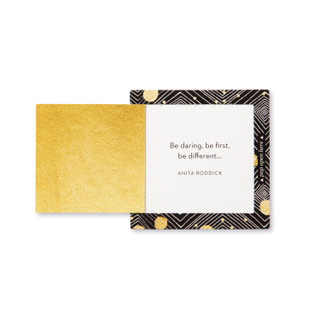 """Inside view of a pop-open card, """"Carpe Diem"""", brigh colors with black, creative design, 30 pop-open cards, each with a unique message inside, backside has space to write a note"""