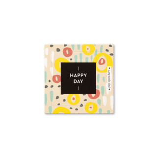 """Front view of a pop-open card, """"Happy Day"""", coloful, cheery design, 30 pop-open cards, each with a unique message inside, backside has space to write a note"""