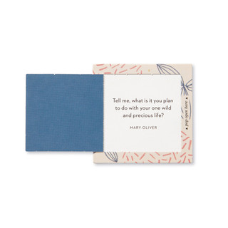 """Inside view of a pop-open card, """"Inspire Her"""", beautiful pink, blue and biege floral design, 30 pop-open cards, each with a unique message inside, backside has space to write a note"""