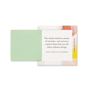 """Inside view of a pop-open card, """"Life is Beautiful"""", beautiful spring color design, 30 pop-open cards, each with a unique message inside, backside has space to write a note"""