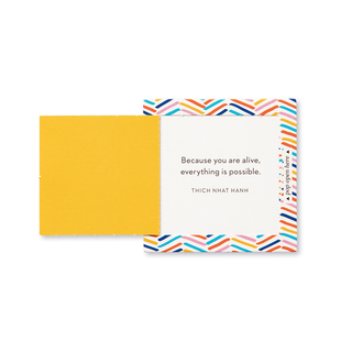 """Inside view of a pop-open card, """"You're Awesome"""", fun, bright, colorful design, 30 pop-open cards, each with a unique message inside, backside has space to write a note"""
