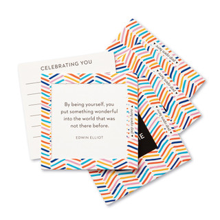 """View of multiple pop-open cards, """"You're Awesome"""", fun, bright, colorful design, 30 pop-open cards, each with a unique message inside, backside has space to write a note"""