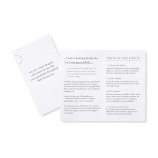 booklet with instructions and tips, letter writing kit, written from grandparent to child, all ages