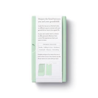 backside, light green box, 20 themed letters