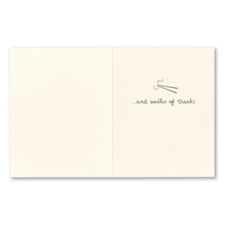 """Card inside, """"…and oodles of thanks!"""""""