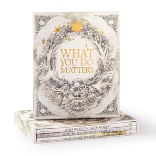 Front of What You Do Matters boxed set and 3 books showing.