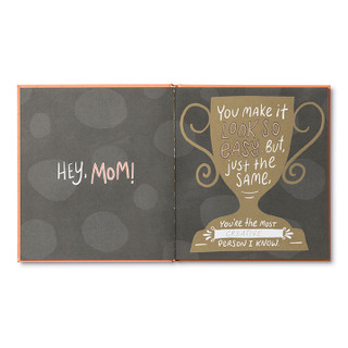 Inside of Mom, I Wrote A Book About You, an activity gift book.