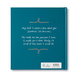 Back of Dad, I Wrote A Book About You, an activity gift book.