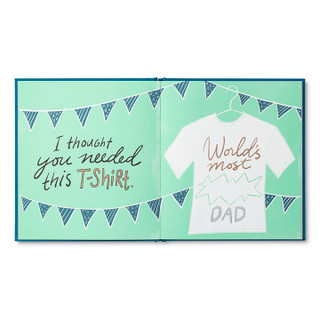 Inside of Dad, I Wrote A Book About You, an activity gift book.
