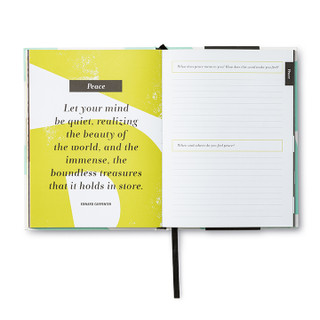 Inside of Words to Live By, a guided journal.