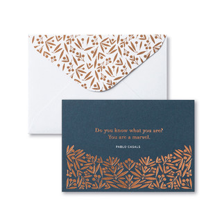 Front of a card and envelope.