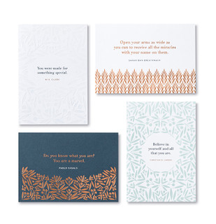 Front of cards.