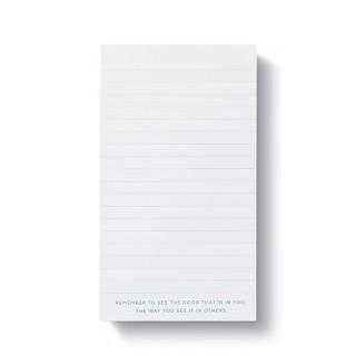 Inside of list pad.