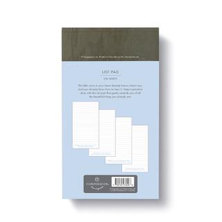 Back of list pad.
