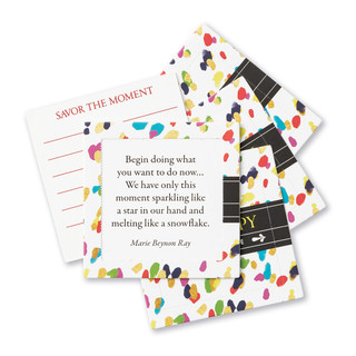 Front of Be Happy cards.