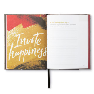 Inside of Live This Day, a guided journal.