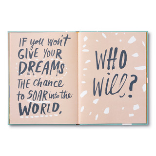Inside of Now Is the Time for Dreams, a gift book written by Danielle Leduc McQueen and illustrated by Chris Ballasiote.