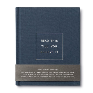 Front of Read This Till You Believe It, an encouragement gift book with belly band.