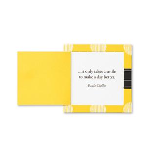 Inside of Smile card.