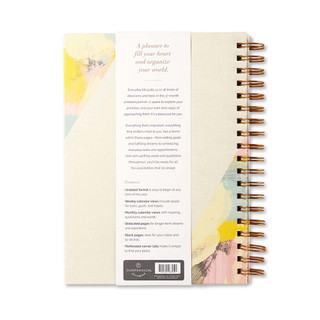 Back of Something Wonderful Is About to Happen, a 17-month undated planner.