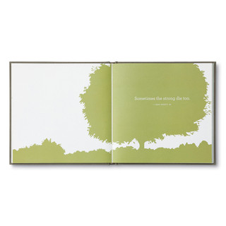 Inside of In Loving Memory, a sympathy gift book.