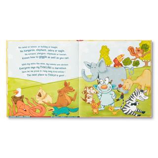 Inside of Tickle Monster children's book.