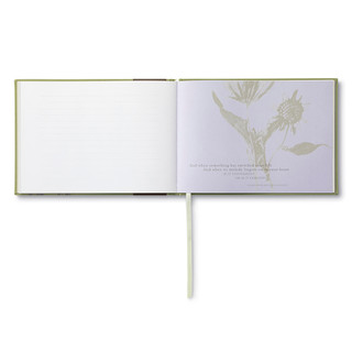 Inside of A Life Remembered, a sympathy guest book.