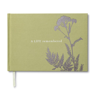 Front of A Life Remembered, a sympathy guest book.