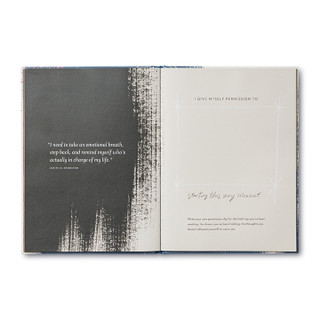Inside of I Am Her, a gift book written by M.H. Clark and illustrated by Justine Edge
