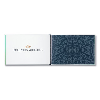 Inside of Believe, a holiday gift book.