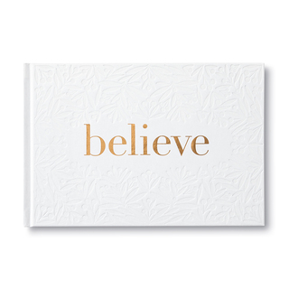 Front of Believe, a holiday gift book.