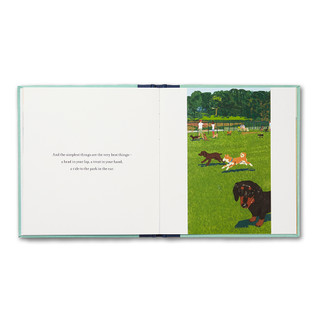 Inside of When You Love a Dog, gift book written by M.H. Clark and illustrated by Tatsuro Kiuchi