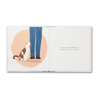 Inside of When You Love a Cat, a gift book written by M.H. Clark and illustrated by Jessica Phoenix