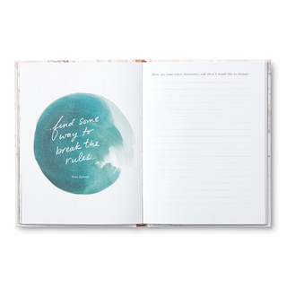Inside of An Inspired Life, a guided journal.