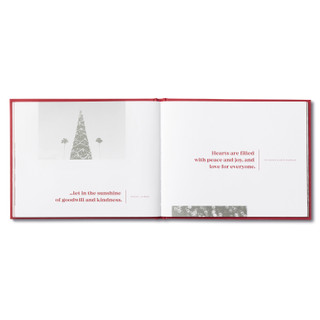 Inside of A Very Merry Christmas, a holiday book.