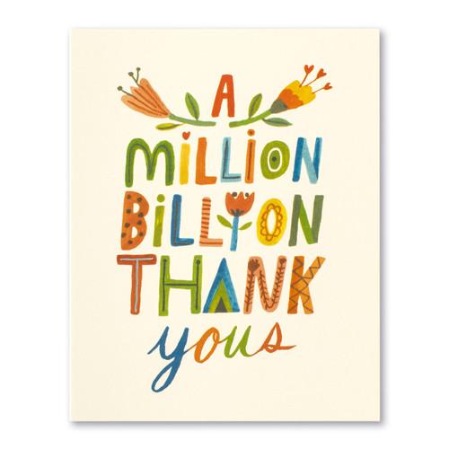 A million, billion thank yous.