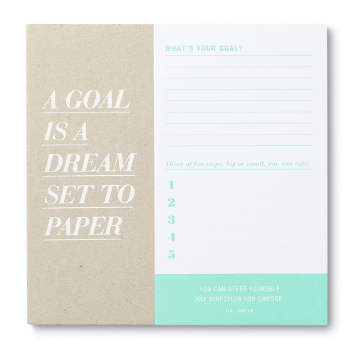 A Goal Is a Dream Set to Paper