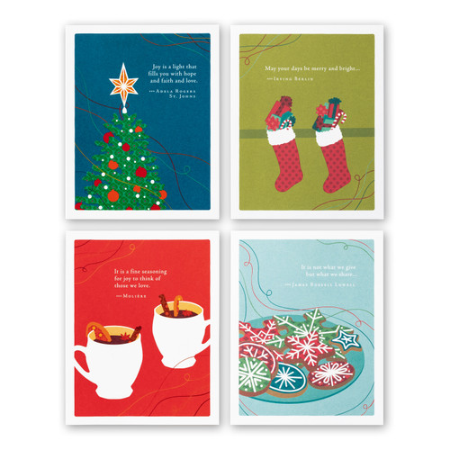 Positively Green Holiday Card 8-Pack: Winter Icons