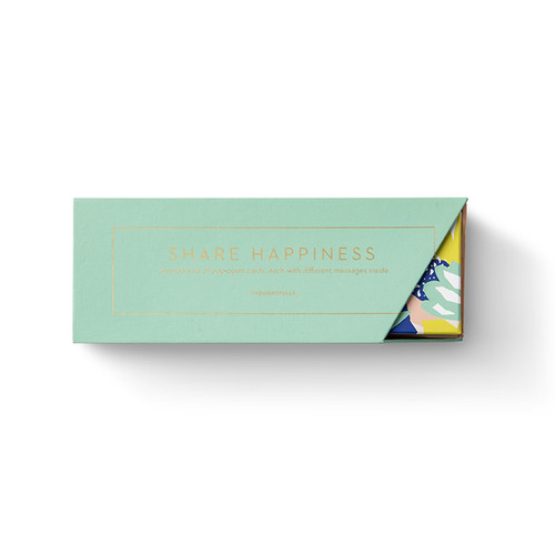 Front of Share Happiness ThoughtFulls boxed collection.