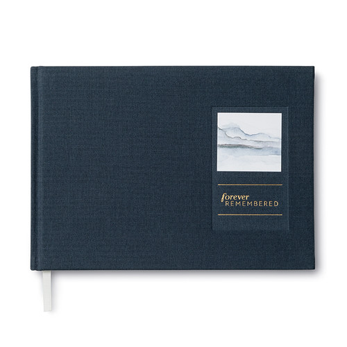 Front of Forever Remembered, a memorial guest book.