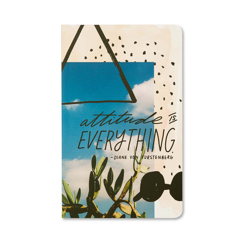 Front of Write Now Journal: Attitude is Everything.