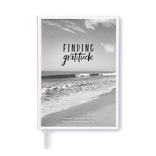 Front of Finding Gratitude, a guided journal.