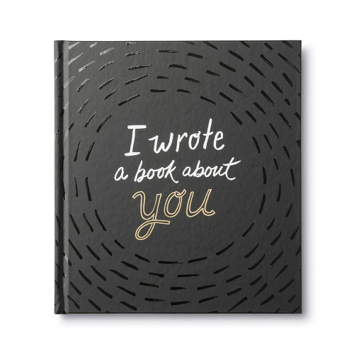 Front of I Wrote a Book About You, a fill-in-the-blank gift book written by M.H. Clark.