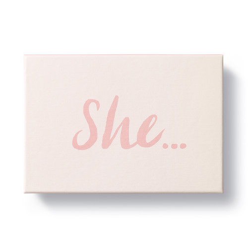 """Front of """"She..."""", an inspirational gift book for her."""