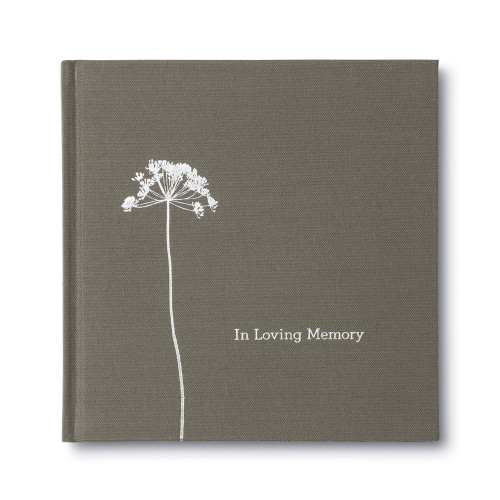 Front of In Loving Memory, a sympathy gift book.